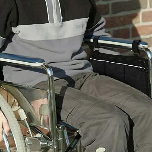 51z1U1N1WSL - AUVSTAR Bolsa de almacenamiento para silla de ruedas Bolsa,Bolsa de accesorios de silla de ruedas, Personas mayores, discapacitados - Bolsa de silla de ruedas con manos libres. (Negro)