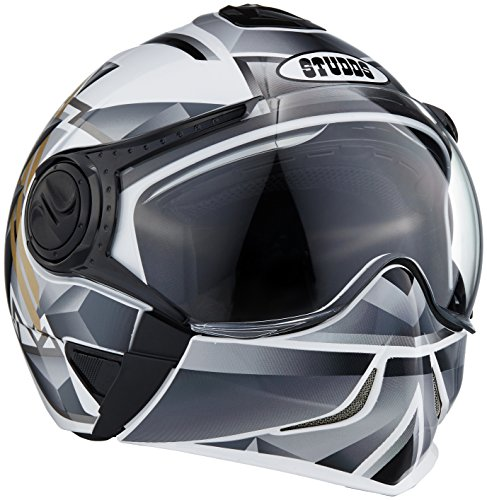 Studds Full Face Helmet Downtown D3 (White N4, M)