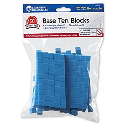 Learning Resources Base 10 Blocks Mini Set by Learning Resources