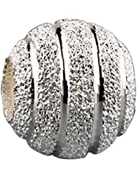 TAOTAOHAS oxidada antiguo sólido plata de ley 925/1000 charm Abalorios perlas Abalorios perla [ balling puro, ] Montar Pulseras Collares Europea Regalo del Día de la Madre