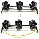 Digislider 2-Achsen-Auto-Pan-Video-Zeitraffer Stop Motion motorisierte elektrische Kamera Slider für Canon, Nikon, Panasonic, Sony (80cm / 32in) | Leise | Automatische Schleife | Ramping