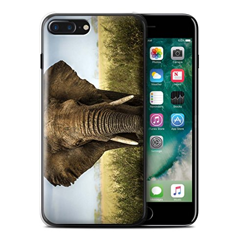 Stuff4 Hülle / Case für Apple iPhone 7 Plus / Koala Muster / Wilde Tiere Kollektion Elefant