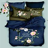Best Royal High Quality Luxury Double Bed Sheet, 100% Pure cotton panel print Double Bedsheets 250*275 cms king size with Trend : ALL SEASON(Pack of 1)