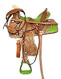 Leather Craft Sangle en Cuir pour Selle de Cheval Western Taille : 35,6 cm à 45,7 cm