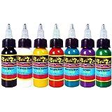 Solong Tattoo® 7 básico colores Tinta de tatuaje Serie Pigmento 1oz (30ml) Kit TI301-30-7