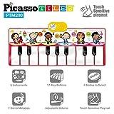 PicassoTiles PTM200 Tragbare große Klaviertastatur Pädagogische Musikmatte mit 6 verschiedenen Musikinstrumenten, 7 verschiedene songs, 17-Tasten-Piano, integrierter Lautsprecher Aufnahmefunktion