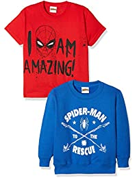 FABTASTICS Spiderman, T-Shirt Garçon (lot de 2)