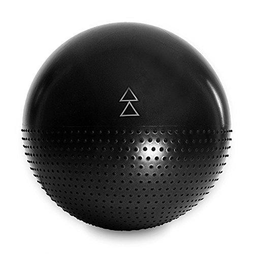 Übung Ball Chair (Der Yoga Ball von Yoga Design Lab. Studio Qualität, doppelseitige, rutschfeste Musterung für Stabilität mit Anti-Burst Technologie. Designed um dir zu helfen alle deine Barren, Yoga und andre Gynmastikball Übungen zu lieben. 65cm. (Night))