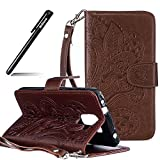 BtDuck Huawei Honor 7 Hülle Leder, Slim Brieftasche Flip Cover Portable Carrying Strap Muster Patterned Huawei Honor 7 Folio Tasche Portemonnaie Geldbörse Cases Shell Briefcase
