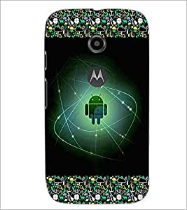 PrintDhaba Android D-2511 Back Case Cover for MOTOROLA MOTO E2 (Multi-Coloured)