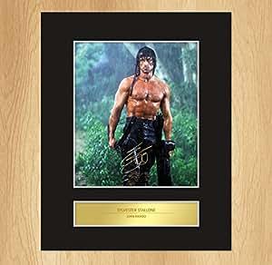 Sylvester Stallone Rambo Photo encadrée avec autographe