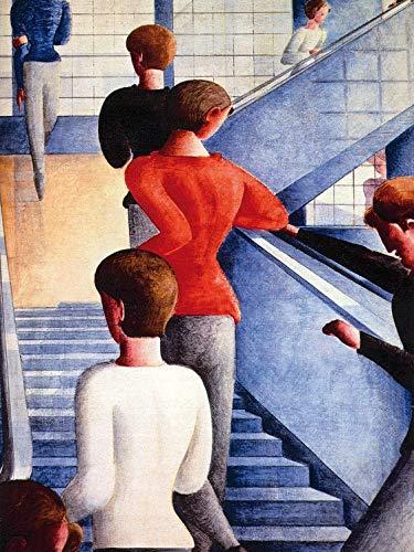 1art1 117084 Oskar Schlemmer - Bauhaustreppe, 1932 Poster Kunstdruck 80 x 60 cm