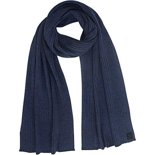 BOSS Orange Herren Strickschal Ariffeno, 83% Cotton, 17% Wolle, ca. 190x35 cm, Dark Blue -