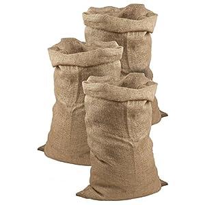 51z1bi7nd2L. SS300  - Juego de 3 sacos de yute de Meister, 105x 60cm, 50 kg de carga, sacos ecológicos de fibra natural, 100 % yute, sacos de patatas resistentes con protección contra heladas, sacos de Papá Noel, para carreras de sacos, 9960920
