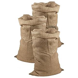 Juego de 3 sacos de yute de Meister, 105x 60cm, 50 kg de carga, sacos ecológicos de fibra natural, 100 % yute, sacos de patatas resistentes con protección contra heladas, sacos de Papá Noel, para carreras de sacos, 9960920