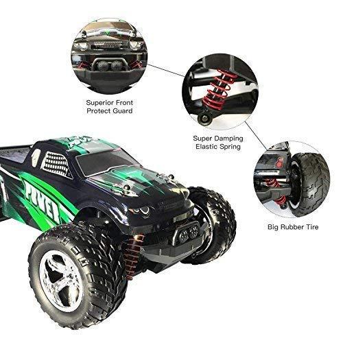 RC Auto kaufen Truggy Bild 2: MaxTronic RC Cars, RC Auto Rock Offroad Racing Fahrzeug Crawler Truck 2,4 Ghz 4WD High Speed 1:20 Radio Fernbedienung Buggy Elektro Fast Race Hobby- Blau (Grün)*