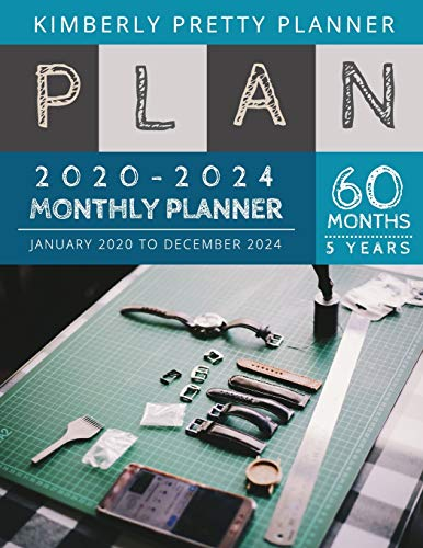 5 year monthly planner 2020-2024: Five Year Planner 2020-2024: 60 Months Yearly and Monthly Calendar Planner | watch repair design