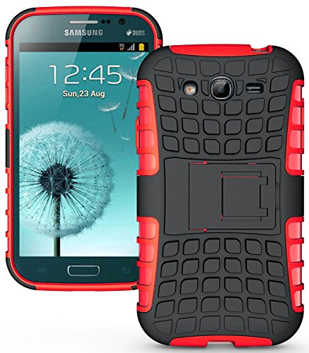 Heartly Flip Kick Stand Spider Hard Dual Rugged Shock Proof Tough Hybrid Armor Bumper Back Case Cover For Samsung Galaxy S3 S 3 i9300 - Hot Red  available at amazon for Rs.429