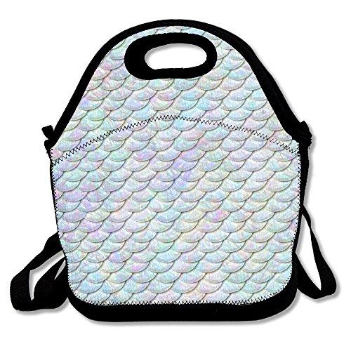 Pure weiß Mermaid Life Lunch Bag Handtasche Lunchbox für Schule Arbeit Outdoor (Quiksilver Lunch-box)