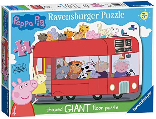 Ravensburger uk 5530 peppa pig london bus, 24pc gigante a forma di puzzle