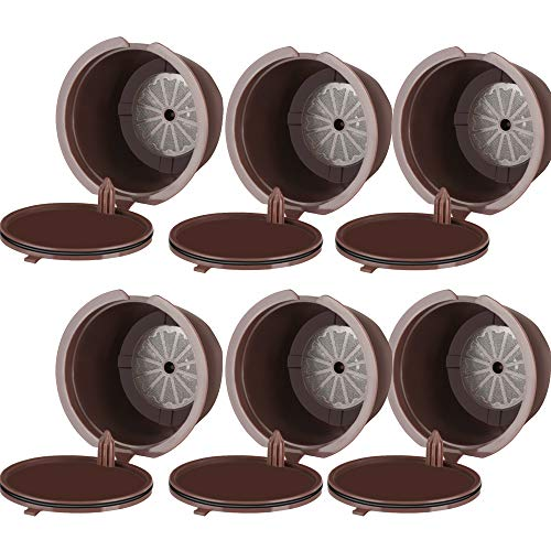 Ourleeme ricaricabile riutilizzabili dolce gusto caffè in capsule compatibile con nescafe genio, piccolo, esperta e circolo (6pcs)