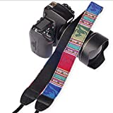 SYGA 1 Piece Blue Coloured DSLR Camera Shoulder Strap