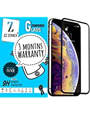 "ZZ ZONEX 11D Full Edge Coverage Screen Protector, HD Clear, Bubble-Free, Anti-Scratch Tempered Glass Designed for iPhone 11 / XR (6.1""), (Black) [1-Pack]"