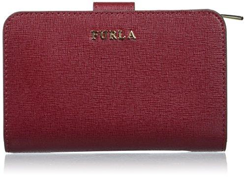 Furla babylon m zip around - portafogli donna, rosso (ciliegia d), 1x9x14 cm (b x h t)