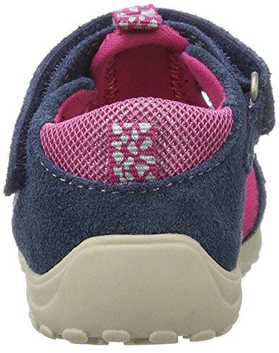 Lurchi Maxy, Chaussures Marche Bébé Fille Blau (Jeans Fuchsia)