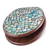 banjado Design Toilettensitz mit Absenkautomatik, WC-Sitz Holz, Klodeckel mit Metall Scharnieren, Toilettendeckel mit Motiv Mosaik