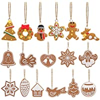 Tinksky Copo de nieve colgantes navidad adornos árbol de fiesta decoración de Navidad - 17 piezas
