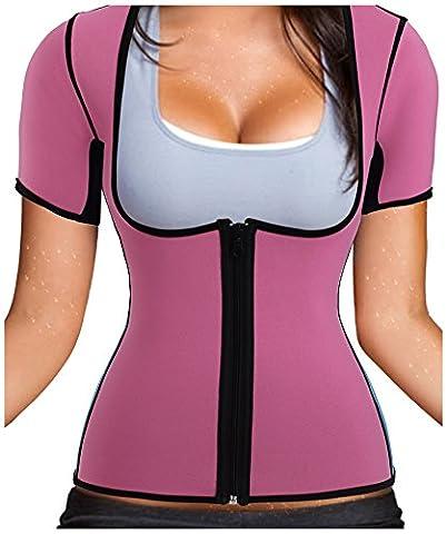 Gotoly Damen Neopren Abnehmen heißen Sauna Schwitzanzug Ärmeln für Gewichtsverlust (M Für 42-46, (Power Body Shaper)