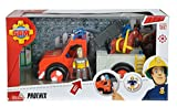 Simba 109258280 - Feuerwehrmann Sam Phoenix Rettungsfahrzeug mit Figur und Pferd Test