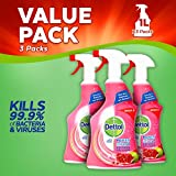 Dettol Power and Fresh Multi-Purpose Cleaning Spray, Pomegranate, 1 Litre, Pack of 3