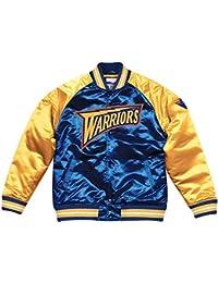 Mitchell   Ness Golden State Warriors NBA HWC Tough Season Satin Jacket  Bomber College Jacke 3376a9ab104