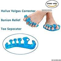 Preisvergleich für pedimendtm Zehentrenner für überlappende Zehen Einhängen (2Paar | Big Zehenspreizer | Yoga Zehen Gems | entzündeten...