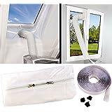 Sichler Haushaltsgeräte Abluft Fensterabdichtung für mobile Klimageräte, Hot Air Stop