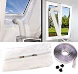 Sichler Haushaltsgeräte Klimaanlage Auslass: Abluft Fensterabdichtung für mobile Klimageräte, Hot Air Stop (Klimaanlage Fensterabdichtung)