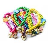 Huhuswwbin Hundehalsband, modisch, mit hohlem Glöckchen, Blume, für Hunde und Katzen, zufällige Farbe L