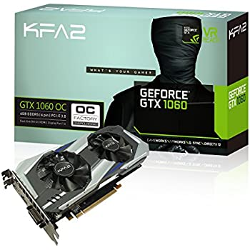KFA2 GeForce® GTX 1060 OC 6GB GeForce GTX 1060 6GB GDDR5 - Tarjeta gráfica (GeForce GTX 1060, 6 GB, GDDR5, 192 bit, 7680 x 4320 Pixeles, PCI Express ...