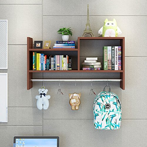 LUYIASI- Kreative Wandregale Garderobe Wandschränke Hängeschränke Schlafsaal Loch-freie Bücherregal Bücherregal Shelf (Farbe : Pink)