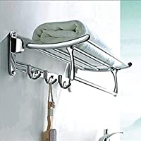 Plantex High Grade Stainless Steel Folding Towel Rack for Bathroom/Towel Stand/Hanger/Bathroom Accessories(18 Inch…