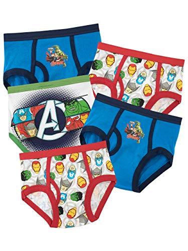 Marvel Ropa Interior para niños Avengers - Paquete de 5-4 a 5 Años