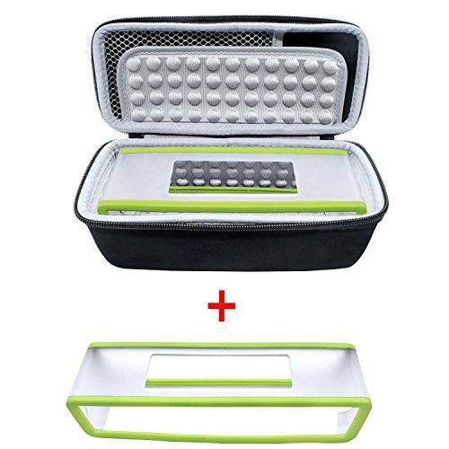 poschell duro caso bolsa de viaje de almacenamiento Caja de protección + suave funda para Bose SoundLink Mini Altavoz inalámbrico portátil con Bluetooth 1& II