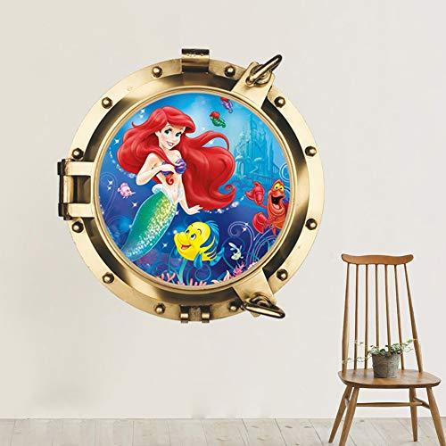XUE 3D Wandaufkleber Dekorative Tapeten Mermaid Submarine Home Dreidimensionale Kindergarten Dekoration Wandbild Wall Decal Wall Art Decor