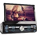 """XOMAX XM-VRSUN729 Autoradio / Moniceiver / Naviceiver mit GPS Navigation + Navi Software inkl. Europa Karten (48 Länder) + Bluetooth Freisprechfunktion + 7""""/18cm Touchscreen Display in 16:9 HD Auflösung (800 x 480 px) + Ohne CD-Laufwerk + USB Anschluss (bis 128 GB) + Micro SD Speicherkarten Slot (bis 128 GB) + MPEG4, MP3, WMA, AVI, DivX etc. + Anschlüsse für Subwoofer, Rückfahrkamera & Lenkradfernbedienung + Single DIN (1DIN) Standard Einbaugröße + inkl. Fernbedienung, Einbaurahmen"""