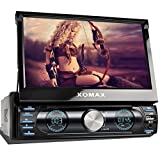 XOMAX XM-VRSUN729 Autoradio / Moniceiver / Naviceiver mit GPS Navigation + Navi Software inkl. Europa Karten (48 Länder) + Bluetooth Freisprechfunktion + 7