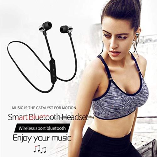 pikins Banda para el Cuello Bluetooth Auriculares Deportivos Impermeables Auriculares inalámbricos estéreo Auriculares
