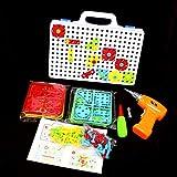 Heaviesk Juego de juguetes Taladro eléctrico Desensamblaje de tuerca Herramienta Match Match Taladro eléctrico Rompecabezas ensamblados Juegos para niños Juguete de rompecabezas