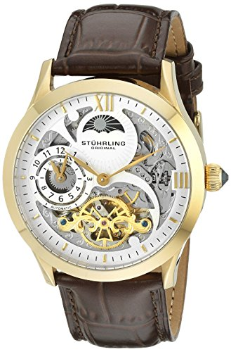 stuhrling-original-classic-winchester-tempest-ii-mens-automatic-watch-with-gold-white-dial-analogue-